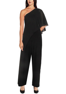 Papell Studio by Adrianna Papell One-Shoulder Overlay Jumpsuit