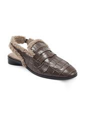 Aerosoles Gabrielle Faux Shearling Slingback Loafer (Women)