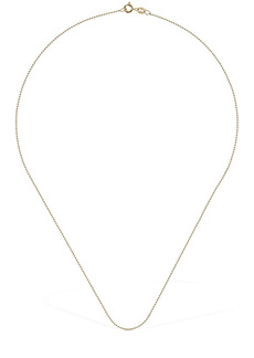 AG Adriano Goldschmied 18kt Gold Slim Ball Chain Necklace