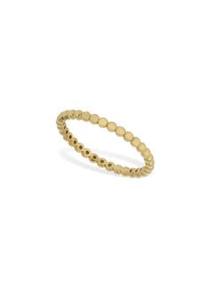 AG Adriano Goldschmied 18kt Gold Slim Rigid Chain Ring