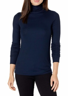 AG Adriano Goldschmied Women's CHELS Ribbed Knit Fitted Longsleeve Turtleneck  S