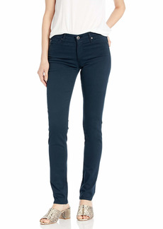 AG Adriano Goldschmied Women's Prima Mid-Rise Cigarette Leg Skinny Fit Pant midnight navy