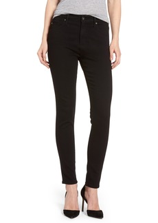 AG Adriano Goldschmied AG Farrah High Waist Ankle Skinny Jeans (Super Black) (Nordstrom Exclusive)