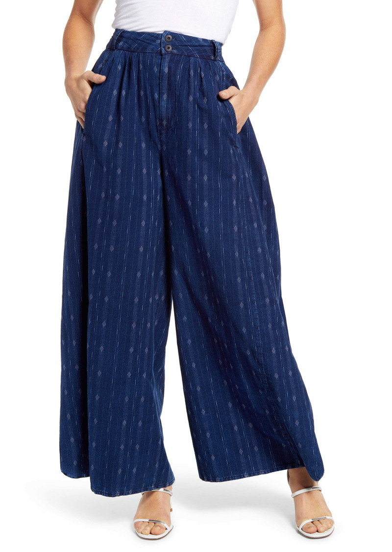 AG Adriano Goldschmied AG Hadley Pleated Cotton Culottes