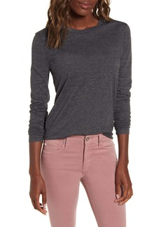 AG Adriano Goldschmied AG LB Heathered Long Sleeve Stretch Cotton Tee