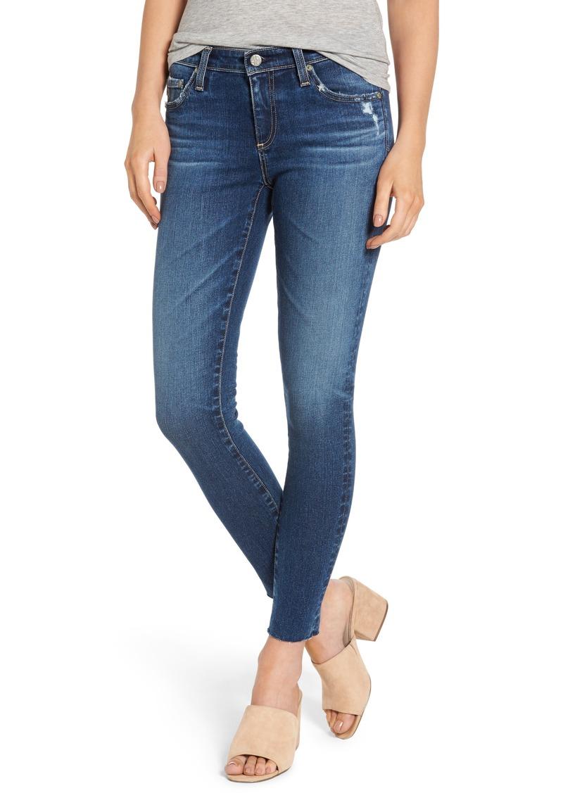 AG Adriano Goldschmied AG The Legging Raw Hem Ankle Skinny Jeans (12 Years Blue Dusk)
