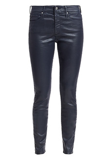 AG Adriano Goldschmied Farrah Leatherette Mid-Rise Ankle Skinny Jeans