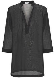 AG Adriano Goldschmied Poplin & Mousseline Mini Dress