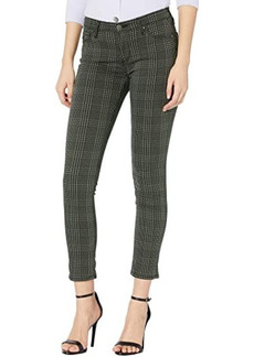 AG Adriano Goldschmied Prima Ankle in Houndstooth Plaid Folkstone