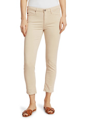 AG Adriano Goldschmied Prima Sateen Mid-Rise Crop Cigarette Pants