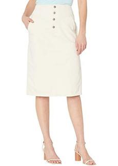 AG Adriano Goldschmied Selina Button-Up Denim Skirt in Ecru Dunes