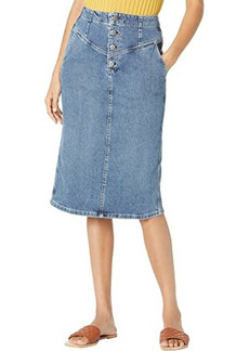AG Adriano Goldschmied Selina Button-Up Denim Skirt in Vendetta