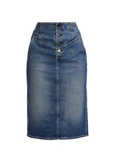 AG Adriano Goldschmied Selina Denim Pencil Skirt