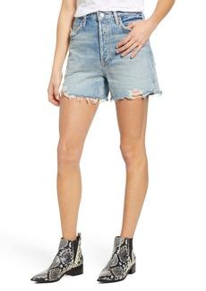 AGOLDE Dee Ultra High Waist Cutoff Denim Shorts (Ricochet)