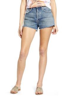 AGOLDE Parker Organic Cotton Cutoff Denim Shorts (Lowkey)