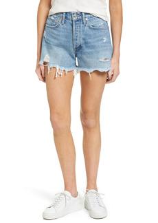 Women's Agolde Parker Distressed Denim Shorts