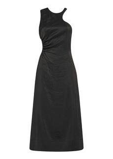 Aje - Women's Chateau Cutout Linen-Blend Midi Dress - Black - Moda Operandi