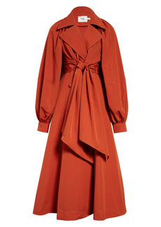 Aje Interlace Convertible Trench Dress