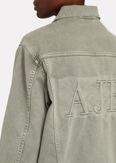 Aje Darcel Oversized Logo Denim Jacket