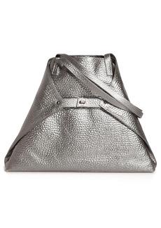 Akris Ai Medium Hammered Metallic Leather Tote Bag - Metallic