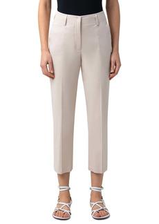 Akris Flavian Stretch Cotton Poplin Ankle Pants