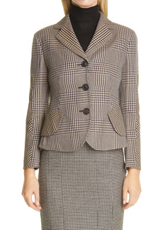Akris Glen Plaid Virgin Wool Jacket