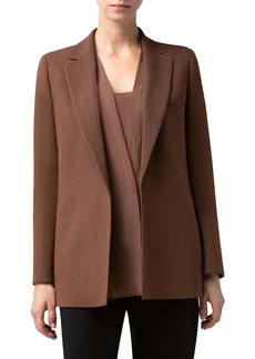 Akris Natty Long Linen & Wool Double Face Crepe Jacket