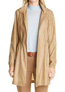 Akris Oasis Hooded Silk Taffeta Parka