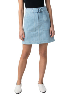 Akris punto A-Line Denim Skirt