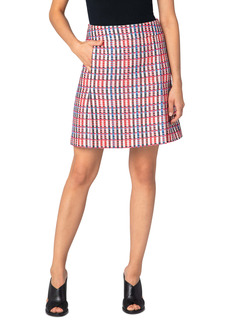 Akris punto Check Cotton Blend Skirt