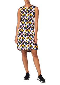 Akris punto Floating Dot Print Shift Dress