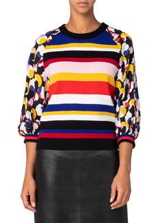 Akris punto Liquid Color Wool Sweater