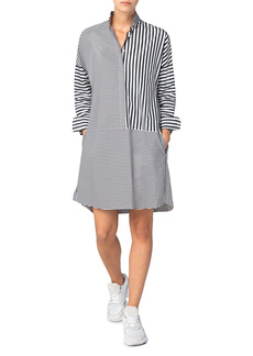 Akris punto Long Sleeve Organic Cotton Poplin Shirtdress