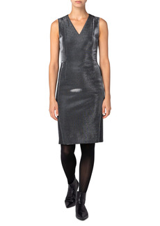Akris punto Metallic Jersey Sheath Dress