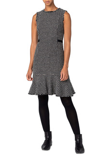 Akris punto Metallic Tweed Sheath Dress