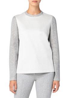 Akris punto Mélange Bonded Jersey Sweatshirt