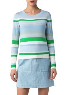 Akris punto Multicolor Stripe Sweater