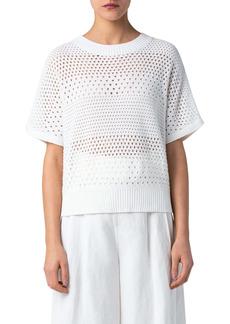 Akris punto Open Stitch Organic Cotton Sweater