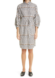 Akris punto Parasol Print Cotton Poplin Dress
