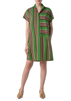 Akris punto Patchwork Parasol Stripe Shirtdress