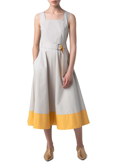 Akris punto Sleeveless Cotton Midi Dress