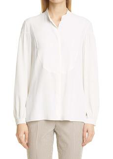 Akris punto Stripe High/Low Shirt