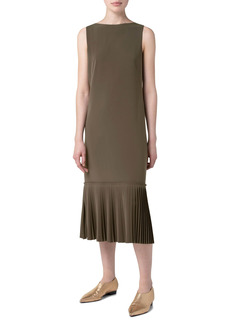 Akris punto Techno Laser Cut Crepe Midi Dress