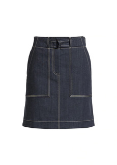 Akris Punto Denim Stitched Skirt