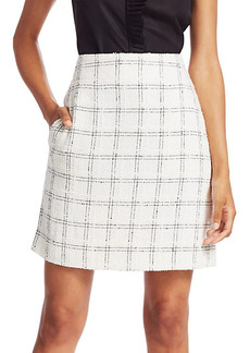 Akris Punto Grid Tweed Pencil Skirt