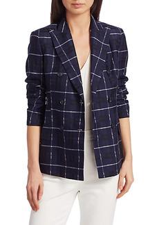 Akris Punto Plaid Cotton & Silk Jacket