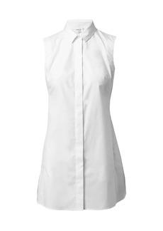 Akris Punto Sleeveless Poplin Collar Shirt