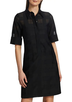 Akris Punto Tonal Check A-Line Shirtdress