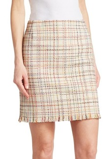Akris Punto Tweed Mini Skirt