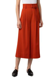 Women's Akris Punto Fiorella Belted Wool Flannel Culottes